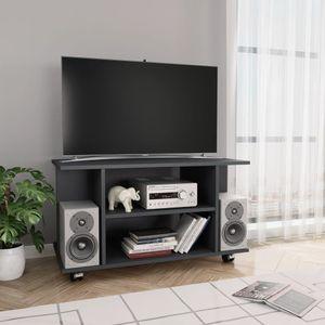 vidaXL TV-Schrank mit Rollen Grau 80×40×40 cm Spanplatte