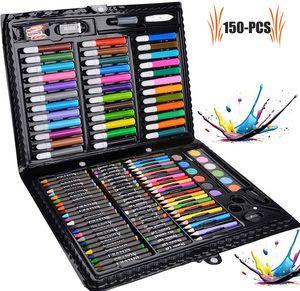Malkasten für Kinder 150 Pcs Buntstifte Set  Malset Kinder Kinderspielzeug  Geschenk für Kinder Farben Set für Kinder