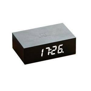 Gingko Flip Click Clock Uhr - in verschiedenen Farben, Farbe:black