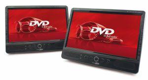 """Caliber Tragbares 25,6cm (10,1"""") DVD-Player Set, USB/ CD/ DVD/ VCD/ MP3/ MPEG4/ DivX/ JPEG/ SD Karten (bis zu 16GB), MPD2010T"""