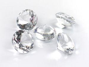 5 Stk Dekosteine Diamanten 3cm, Farbe:kristall / klar 099
