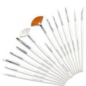 16 Pcs Acrylic Nail Art Design Malerei Stift Pinsel Set + 100 Fussel freien Nagel Tücher von Boolavard® TM