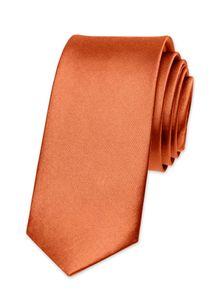 Krawatte Herren Hochzeit Konfirmation Slim Tie Retro Business Schlips schmal Autiga® dunkelorange