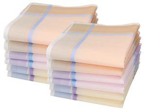 Betz 12 Stück Damen Stoff Taschentücher Paloma II Größe 30x30 cm, Baumwolle, Dessin 3