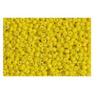 Rocailles gelb opak 2,5mm Perlen - 500g Großpackung (ca. 16.000 Stück)