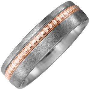 JOBO Partner Ring 54mm Titan matt mit 750 Rotgold Partnerring