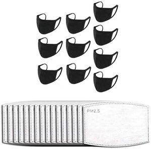 Mundschutz Maske Stoff schwarz Mund- und Nasenschutz waschbar Mund- und Nasen Masken Stoffmasken Baumwolle