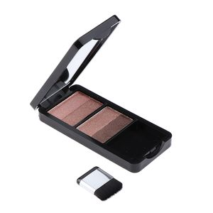 Double Color  Glitter Eyeshadow Puder-Palette mit Pinsel Farbe Gray Moving Heartstring