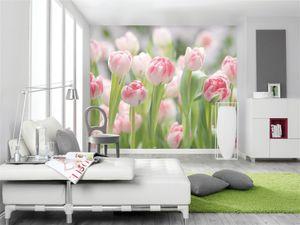 """Komar Fototapete """"Secret Garden"""", grün/rosa, 368 x 254 cm"""