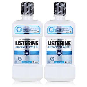 Listerine Advanced White 500ml - Für weißere Zähne in nur 2 Wochen (2er Pack)