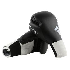 adidas Boxhandschuhe, Hybrid 100, schwarz-weiß Size - 10 Oz