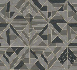 A.S. Création geometrische Tapete Pop Style Vliestapete mit Glitzereffekt braun schwarz gold 10,05 m x 0,53 m