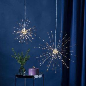 3D-LED-Hängestern 'Firework' -200 warmweiße LED - silber - D: 45cm - Material: Metall