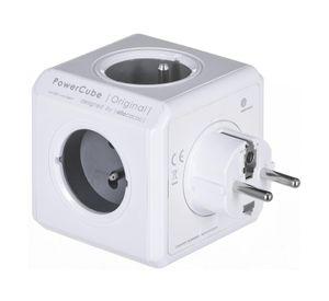 Allocacoc PowerCube Original Typ E Innenbereich 5-polig AC Grau Mehrfachsteckdose - Mehrfachsteckdosen (Innenbereich, 5-polig AC, Typ E (FR), Grau, CE, 16 A)