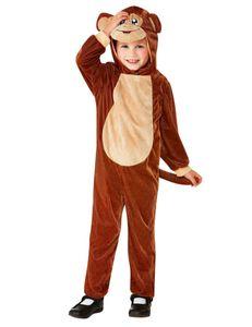 Affen-Kostüm für Kleinkinder Tier-Overall braun