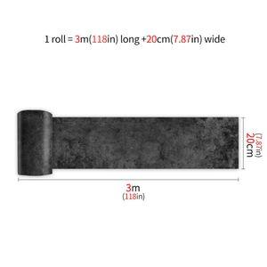 20x300cm wasserdichter Wandaufkleber Bodenaufkleber Kunstabziehbilder selbstklebend,Farbe: Dunkler Zement,Größe:20x300cm