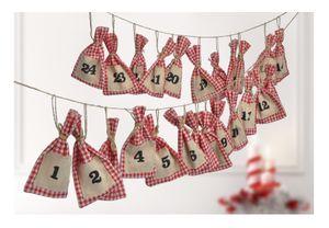 2x Adventskalender Weihnachtskalender Weihnachten selbst Befüllen Säckchen DIY