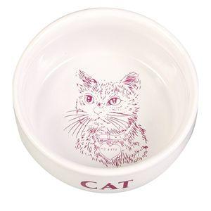 Trixie Keramiknapf mit Motiv Katze weiß 0,3 Liter/11 cm
