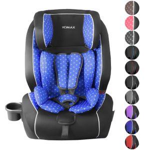 XOMAX HQ668 Auto Kindersitz mit ISOFIX und Flaschenhalter für Kinder von 9 - 36 kg (Klasse I, II, III), HQ668 Farben:red-black