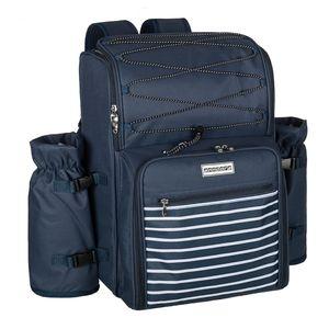 Picknickrucksack für 4 Personen - blau navy