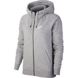 Nike W Nsw Essntl Hoodie Fz Flc Dk Grey Heather/White M
