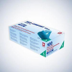 AMPRI Einweghandschuh Med Comfort Blue Vitril Größe M blau Vinyl-Nitril Gemisch EN 420, EN 374, EN 455 PSA-Kategorie III