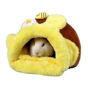 Cosanter Weicher Warm Haustier Nest Kuschelhöhle mit Schöne Muster, Hamstern Meerschweinchen Nest
