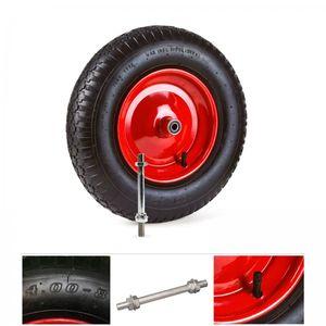 Grafner® Schubkarrenrad 4.80/4.00-8 PolyurethanLuftbereifung Metallfelge mit Achse Schubkarrenreifen