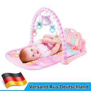Spielmatte für Babys, Krabbeldecke mit Spielbogen und Füßchenklavier, Baby Spieldecke Babybett Musik-Activity Gym Spielzeug, Geschenk für Babys