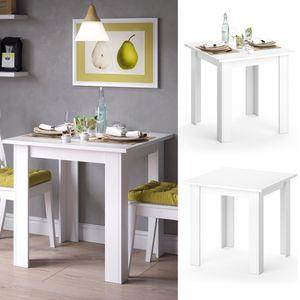 Vicco Esstisch KARLOS Esszimmertisch 80cm Wohnzimmer Küchentisch Tisch Weiß