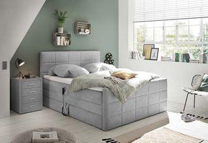 Designer Polsterbett 180×200 cm ,, Allrounder´´ inkl. Bettkasten – Motor – 9-Zonen-Tonnentaschenfederkern & HR Topper 6cm