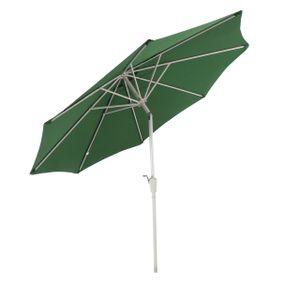 Sonnenschirm N19, Gartenschirm, Ø 3m neigbar Polyester/Alu 5kg  grün