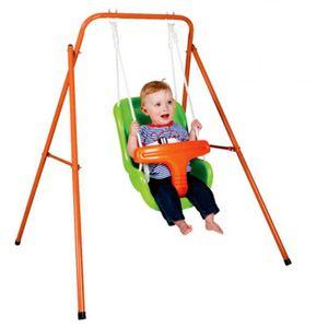 Paradiso Toys schaukel mit Babysitz orange/grün