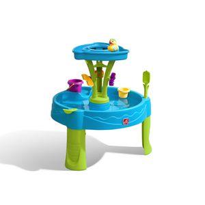 Step2 Summer Showers Splash Wasserspieltisch | Kleiner Wassertisch mit 8-teiligem Zubehörset | Garten Wasser Spieltisch für Kinder in Blau