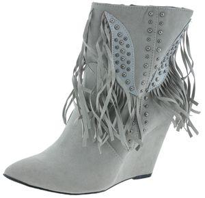 Melrose 812252 Keilabsatz Ankle Boots grau, Groesse:40.0