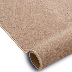 Einfarbiger Teppich Eton für Zimmer, Wohnzimmer, Schlafzimmer, Teppichboden Auslegware, Verschiedene Größen 300x350 cm beige