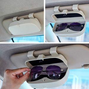 Brillenhalterung Brillenbox, Brillenhalter mit Magnet und Kartenhalter Auto Sonnenbrillenhalterung für Auto Sonnenblende, Einfache Montage