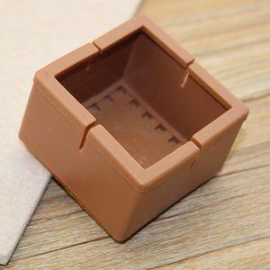 10 Stück Stuhlbein-Bodenschoner Farbe Quadratisch 42-48mm