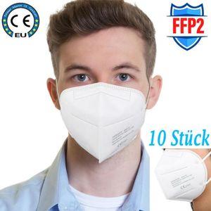 10x FFP2 NR - Atemschutzmasken mit  - 5-Lagige Mundschutz - Maske - Feinstaubmaske - Gesichtsmaske 95% Filterung