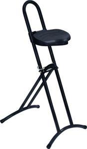 Lotz Stehhilfe Gestell silber Sitz schwarz Raster-Höhenverstellung - 3680.55