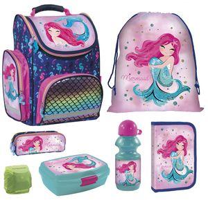 Mädchen Schulranzen Set 7tlg. PL Tornister 1. Klasse Meerjungfrau Prinzessin Magic Mermaid Princess
