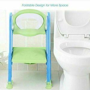 3 in 1 Toilettentrainer & Treppe Baby Kindertoilette PP WC-Sitz Lerntöpfchen Trittleiter Baby Töpfchen