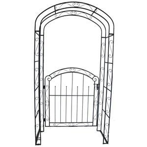 Pforte Gartenpforte Gartentor Metalltor Tor Eingang mit Rosenbogen Rankhilfe