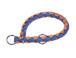 """Nobby Würger """"Corda"""" hellblau/orange L: 52-60 cm; B: 18 mm, 80705-32"""