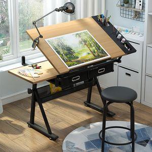 Zeichentisch Schreibtisch Hocker höhenverstellbar neigbar Computer-/Arbeitstisch
