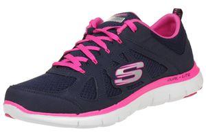 Skechers Flex Appeal Damen Low Sneaker Blau Schuhe, Größe:41