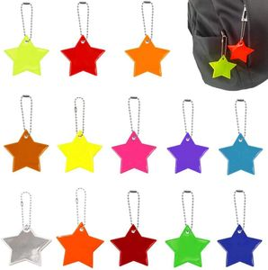 13 Stücke,Reflektierend Anhänger, Sicherheitsreflektor-Anhänger,Stern Sicherheitsreflektor,Sicherheitsreflektor Reflektoren,Reflektor Anhänger für Schultasche,Kinderreflektor Anhänger