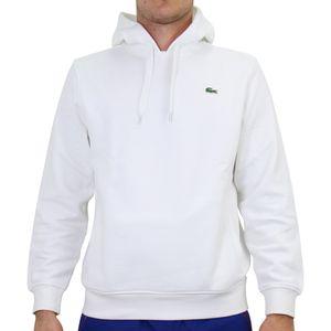 Lacoste Sport Hoodie Sweatshirt Herren Weiß (SH1527 800) Größe: 5 (L)