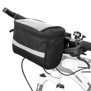 Radfahren Fahrrad Isolierte Fronttasche MTB Fahrrad Lenkertasche Basket Pannier Kuehltasche mit Reflektorstreifen