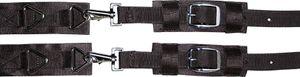 Harrys Horse Pferde Deckenbrustverschluss 1 Paar  Brusterweiterung Decke schwarz